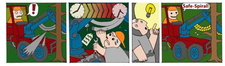 Slangbescherming cartoon