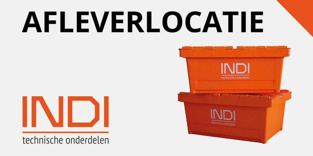 Het INDI-bord voor de afleverlocatie van nachtbezorging.