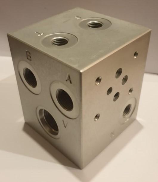 Cartridgeblok met Cetop-ventiel