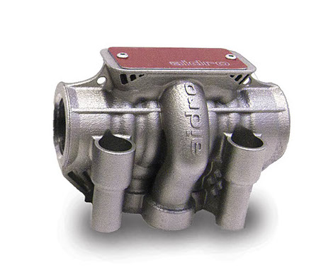 Het 3D geprinte cetop ventiel van Aidro