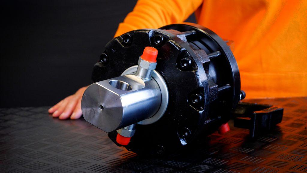 close-up van een rotator