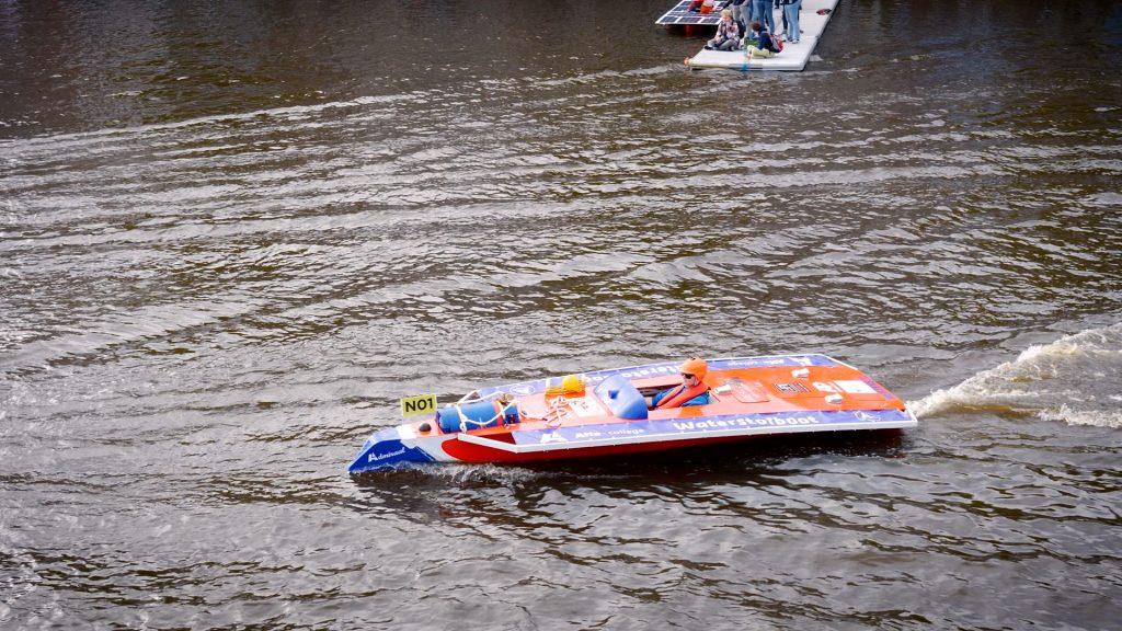 Waterstofboot in actie